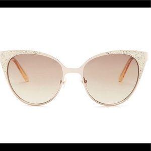 Kate Spade | Cat Eye Gold Glitter Sunglasses